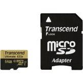 Memoria Transcend MicroSDXC 64GB 633x + Adaptador SD