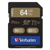 Memoria SDXC Verbatim 64GB Pro+ UHS-I