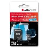 Memoria AgfaPhoto MicroSDHC Profesional High Speed UHS I 16GB