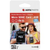 Memoria microSDHC AgfaPhoto 4GB Mobile High Speed + Adaptador