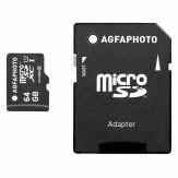 Memoria microSDXC AgfaPhoto 64GB Clase 10 + adaptador