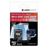 Memoria AgfaPhoto MicroSDXC  64GB Profesional High Speed UHS I