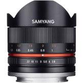 Samyang 8mm f/2.8 II Ojo de pez Samsung NX negro