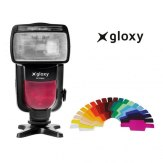 Flash Gloxy GX-F990 + Cargador + 4 Pilas AA