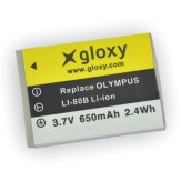Gloxy Batería Olympus LI-80B