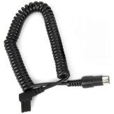Connection Cable for Gloxy GX-EX2500 External Battery and Nikon Flashes