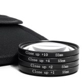 4 Close-Up Filters Kit (+1 +2 +4 +10) 55mm
