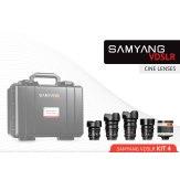 Kit Samyang para Cine 14mm, 24mm, 35mm, 16mm, 500mm Sony E