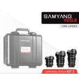 Samyang Cine Lens Kit 3 8mm, 16mm, 35mm Sony E