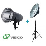 Kit Flash de Estudio Visico VL-400 Plus + Soporte + Beauty Dish