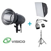 Kit Flash de Estudio Visico VL-400 Plus + Soporte + Softbox 50x70cm + Disparador VC-816