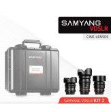 Kit Samyang Cine 14mm, 35mm, 85mm Micro 4/3