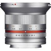 Objetivo Samyang 12mm f/2.0 Samsung NX Plateado