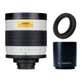 Súper Teleobjetivo Samyang 800-1600mm f/8 MC IF Samsung NX + Duplicador 2x