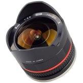 Samyang 8mm f/2.8 Ojo de pez Sony NEX negro