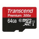 Memoria Transcend microSDXC clase 10 300x 64GB + Adaptador
