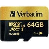 Memoria Verbatim MicroSDXC 64GB Pro+ Clase 10 UHS-I + Adaptador