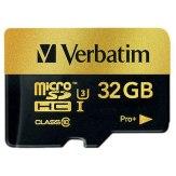Memoria Verbatim MicroSDHC 32GB Pro+ Clase 10 UHS-I + Adaptador