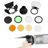 Kit de accesorios AK-R1 para Godox AD200 cabezal redondo