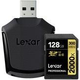 Memoria SDXC Lexar 128GB 2000x Profesional + Lector USB