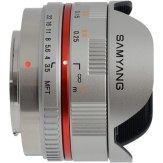 Samyang 7.5mm f/3.5 UMC Fish-eye Micro 4/3 Plateado