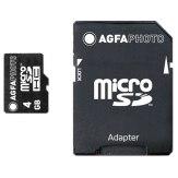 Memoria microSDHC AgfaPhoto Mobile4GB  + adaptador