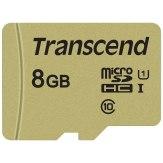 Transcend Memoria microSDHC 8GB 500S