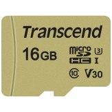 Transcend Memoria microSDHC 16GB 500S