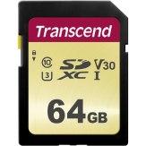 Transcend Memoria SDXC 64GB 500S