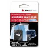 Tarjeta AgfaPhoto microSDXC 64GB UHS I A1 100MB/s