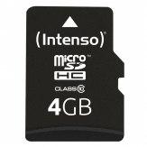 Tarjeta de memoria Intenso microSDHC 4GB Clase 10 20MB/s