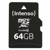 Tarjeta Intenso microSDXC 64GB Clase 10 20MB/s