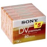 Cintas de vídeo MiniDV Sony 1x5 Premium