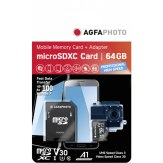 AgfaPhoto microSDXC 64GB UHS-I Profesional High Speed 100MB/s