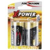 Pilas alcalinas 1x2 Ansmann D LR 20 X-Power