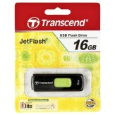 Llave USB Transcend JetFlash 500 16GB negro/verde