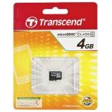 Memoria Transcend MicroSDHC 4GB Class 4