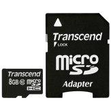 Transcend 8GB  MicroSDHC Card Class 10 + Adapter
