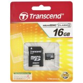 Memoria Transcend MicroSDHC 16GB Class 4 / incl. adaptador