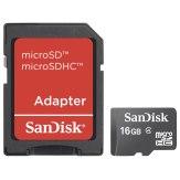 Memoria Sandisk MicroSDHC 16GB / incl. adaptador