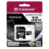 Transcend 32GB MicroSDHC Card Class 10 + Adapter