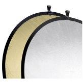 Reflector plegable Walimex Oro / Plateado Ø107cm
