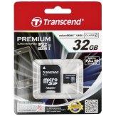 Memoria Transcend MicroSDHC 32GB Class 10 UHS-I / incl. adaptador