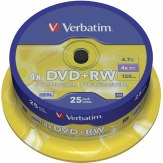 1x25 Verbatim DVD+RW 4,7GB 4x Speed