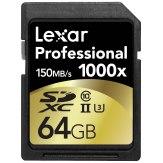 Memoria SDXC Lexar 64GB 1000x Profesional