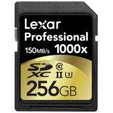 Memoria SDXC Lexar 256GB 1000x Profesional