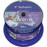 1x50 Verbatim DVD+R 4,7GB 16x Speed