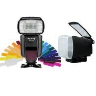 Flash Gloxy GX-F1000 TTL HSS + Difusor BounceLite para Canon EOS 70D