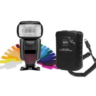 Flash Gloxy GX-F1000 TTL HSS + Batería externa Gloxy GX-EX2500 para Canon EOS 1300D