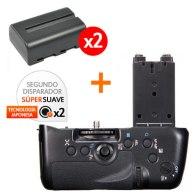 Kit de Empuñadura Gloxy GX-A77 + 2 Baterías NP-FM500H